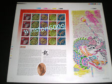 2000 Malaysia Year Dragon Uncut Full Pane Imperforated 20v Mint (Ancient Dragon)