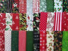 "Assorted Christmas Fabric 30 Piece Layer Cake 10"" Fabric Squares Premium Cotton"