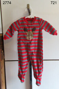 Child of Mine Sleeper Christmas Baby Red 3-6 Months