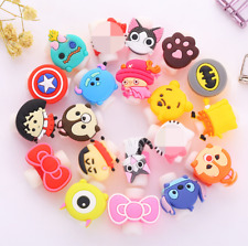 10 pcs Cute Cartoon USB Charger Cable headphones line Saver Protector for IPhone