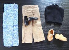 Barbie Ken Clothes Jeans Khaki Pants Black Top Penny Loafers Boots Shoes