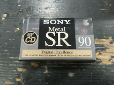 SONY Metal SR 90 MIN Cassette Tapes Type IV Factory Sealed METAL BIAS Audio NEW