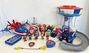 Paw Patrol Bundle Huge Job Lot Plane Vehicles Figures Playset Toys