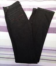 Jeans da donna gamba dritta bassi neri