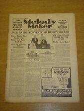 MELODY MAKER 1933 DEC 16 JACK PAYNE SIR HENRY HOWARD BIG BAND SWING