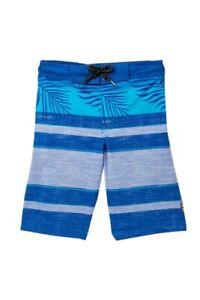 Tony Hawk Boy's L 14-16 Blue Stripe Swim Trunks Short Board Shorts Lined