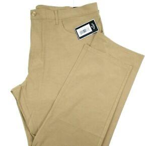 Callaway Mens Lightweight Golf Pants NEW Size 42 x 30 Tan Brown Moisture Wicking