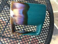 Vtg. Padilla Mexico Drip Glaze Stoneware Stacking Coffee Cup Mugs Set of 4 Rack