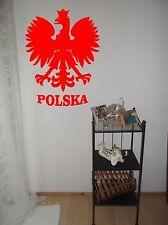 Wandtattoo, wall art, Sticker, Polnischer Adler, Polska, Folienschnitt, Poland