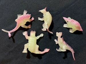 RARE Vintage GLOW Chinasaur 5x Lot NEW OLD STOCK Rubber D&D Rust Monster BULETTE