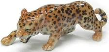 Northern Rose Miniature Porcelain Animal Figure Leopard Hunting R283