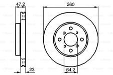 2x Bremsscheibe für Bremsanlage Vorderachse BOSCH 0 986 478 415