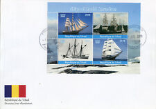 Chad 2018 FDC Roald Amundsen Ships 4v MS Cover Boats Exploration Nautical Stamps