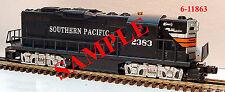 LIONEL Southern Pacific GP9 Diesel TMCC o gauge train engine 6-11863 NIB NR mk