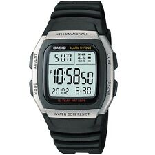 Casio W-96H-1AV Silver Black Digital Watch W96H-1AV with Casio Retail Box