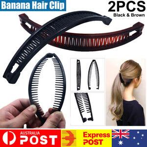 2x Hair Claws Banana Hair Clip Hair Accessories Ponytail Hoder Hair Clamp Women