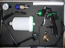 LVLP Lackierpistole mit zwei Düse(1.3mm & 1.8mm) Pistolenhalter  Druckminderer