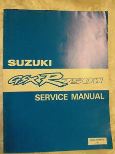 SUZUKI GSX-R750W FACTORY WORKSHOP MANUAL