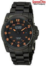 Citizen Eco Drive BJ8075-58F Black Titanium Orange Accent Sport Men's Watch