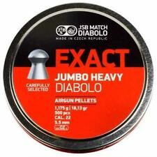 JSB exacte Jumbo lourd .22 Air Rifle Pellets Air Gun munitions boîtes de 500 5.52