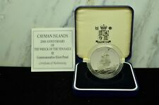 """1994 CAYMAN ISLANDS """"WRECK OF THE TEN SAILS"""" $2 COMMEMORATIVE SILVER PROOF"""
