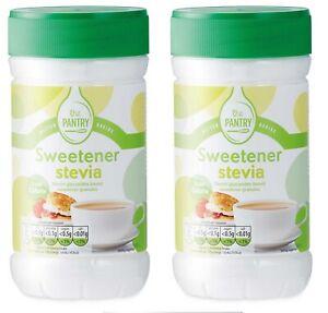 Two x Stevia Sweetener Granules Jars - Each=75g;Expiry in  2 Years;New/Unused~