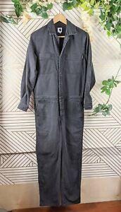 Carhartt Women's Boiler Suit jumpsuit Black Button Up Size M
