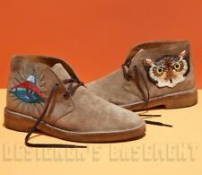 52224594f1d44 GUCCI men 11 camel Moreau Suede Desert UFO   OWL embroidery boots NIB Auth   790!