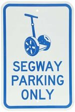 """SmartSign Aluminum Sign, Legend """"Designer Segway Parking Only"""" with Graphic, 18"""""""
