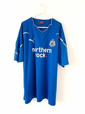 Newcastle United Away Shirt 2010. XL. Blue Adults Short Sleeves Utd Top Only.
