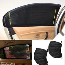 2pcs Car Side Rear Window Sun Visor Shade Mesh Cover Shield UV Protector