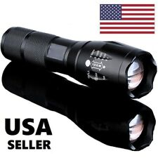 LED Flashlight 70000 Lumens Tactical 5 Modes Focus Zoomable 18650 AAA Torch Lamp