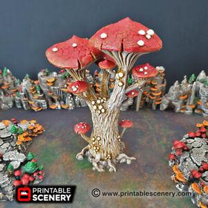 Gaming Terrain - Magic Mushroom Trees - Single - Warhammer DnD Star Wars