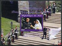 Mali 2018 CTO Prince Harry & Meghan Royal Wedding 1v M/S Royalty Stamps