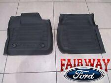 17 Super Duty OEM Ford Tray Style Molded Black Floor Mat Set 2-pc REGULAR CAB