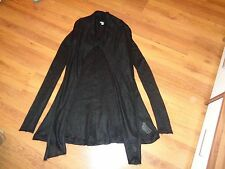 HOSS INTROPIA BLACK KNITTED MOHAIR BLEND TUNIC DRESS WITH SHAWL COLLAR-S.8-UK