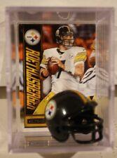 Ben Roethlisberger Pittsburgh Steelers Mini Helmet Card Display Case Auto QB