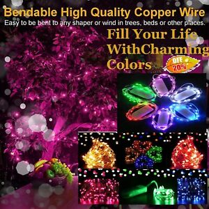 20/30/50/100 LED Battery Micro Rice Wire Copper Fairy String Lights Party Decor