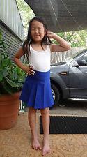 Royal blue girl size pleated mini skirt school uniform,casual 4,6,8,10,12,14,16