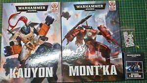 WH40K T'AU War Zone Damocles Campaign Books + Cards and Dice