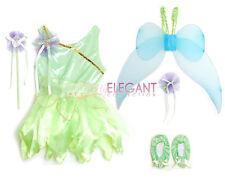 Disney Tinkerbell Fairy Halloween Costume Children Girls Gown Dress 5-7 Yr Tiara