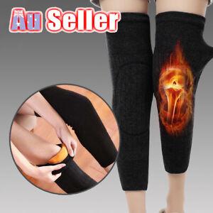Knee support Warmer Leg Sleeve Wool Kneecap Thermal Winter long brace pad