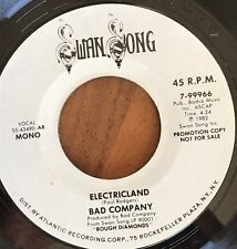 "Bad Company - Electric Land Promo Mono / Stereo 7"" Vinyl 7-99966"