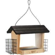 New listing Nature's Way 6 Qt. Natural Cedar Hopper Bird Feeder with Suet Cages Cwf19 - 1