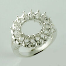 Semi Mount Authentic Sterling Silver Ring 9x11 MM Oval Shape Wedding Top Jewelry