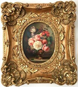 Magnificent Master Oil Painting Still Life Flowers Large Grand Ornate Gilt Frame
