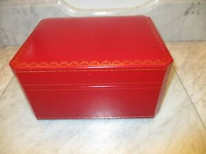 Pre Owned Cartier Watch Presentation Display Box Red Black Interior Box Only EUC