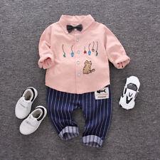 2 Piezas Bebé Adulto Niños LAZO Suéter Camisa + Pantalones largos