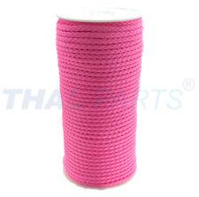 50m PP-Schnur 5,0mm  / 12 x geflochten pink fluoreszierend Schnur