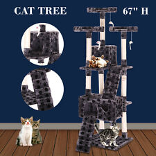 """New 67"""" Cat Tree Tower Condo Furniture Scratching Post Pet Kitty Play House"""